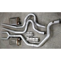 "Exhaust System - Complete | Dual | Thunderbird Turbo Coupe | 2.3 Turbo | 3"" to 2.5"" (Header)"