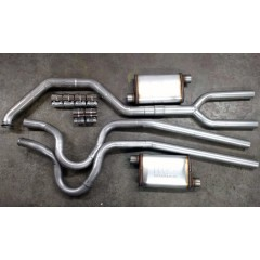 "Exhaust System - Complete | Dual | Mustang | 2.3 Turbo | 3"" to 2.5""  (Stock Location)"