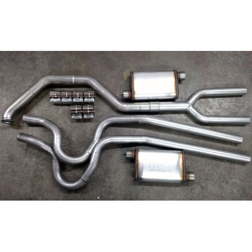 "Exhaust System - Complete | Dual | Thunderbird Turbo Coupe | 2.3 Turbo | 3"" to 2.5"" (Stock Location)"