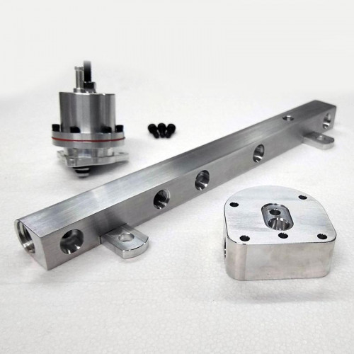 Fuel Rail - 2.3L High Flow - Billet Aluminum + FPR Adapter