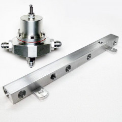 Fuel Rail - 2.3L High Flow - Billet Aluminum + Inline Kirban Adjustable FPR