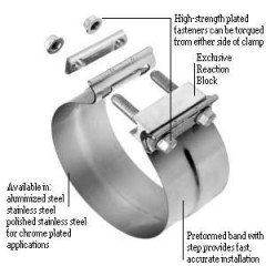 Clamp - Exhaust - Torctite - Polished Stainless Steel