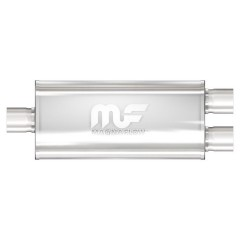 "Muffler - 3.0"" In - Dual 2.5"" Out - For Merkur Dual Exhaust"