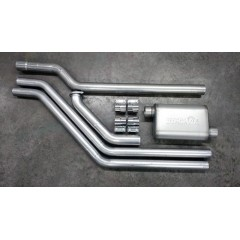 "Exhaust System - Complete | Merkur XR4Ti | 2.3 Turbo | 3"" Single or Dual Exhaust (Stock Location)"