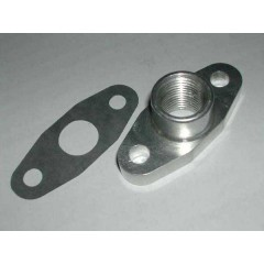 "Flange | Turbo Oil Return Drain | 1/2"" NPT"